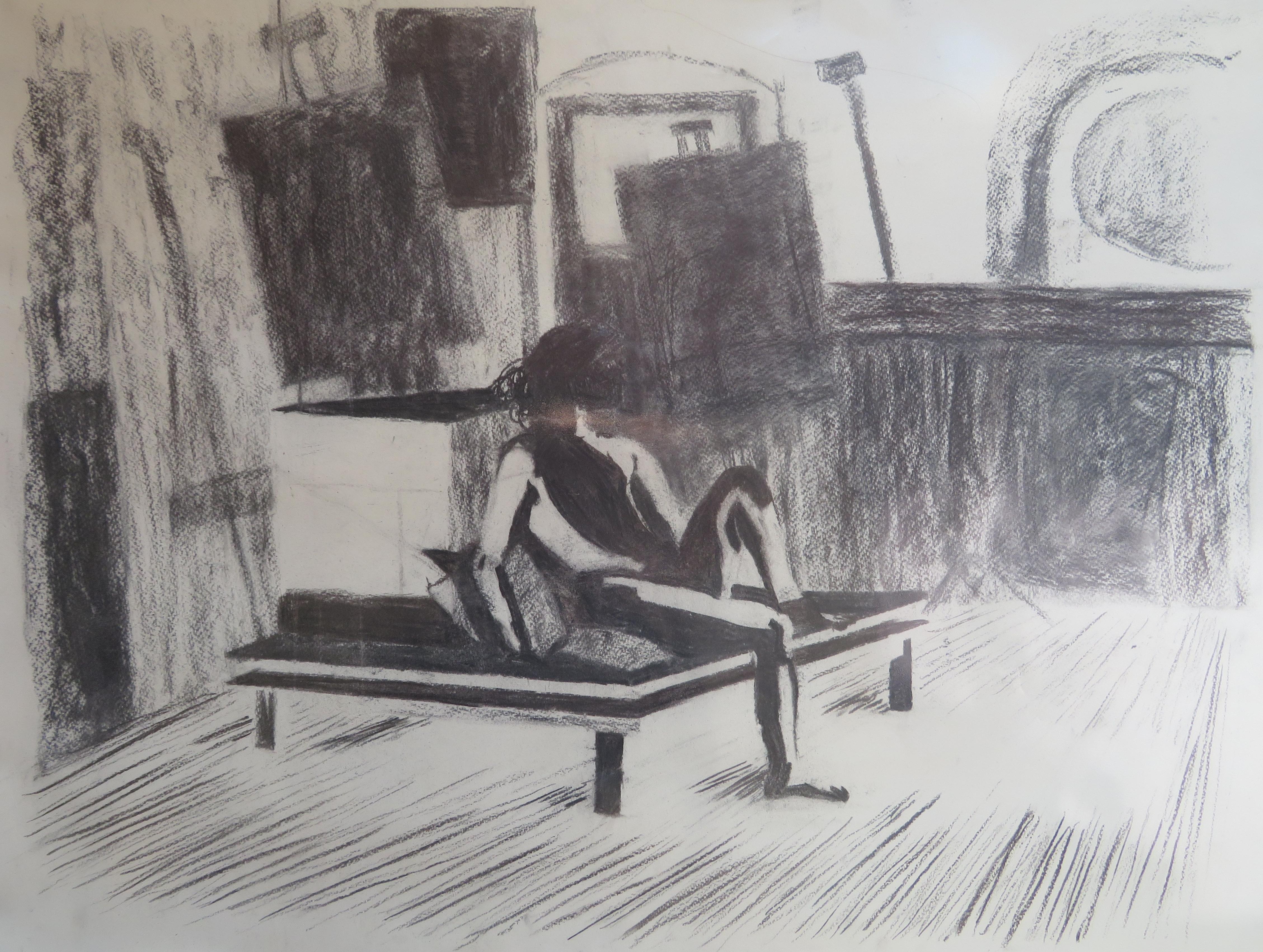 Charcoal Sketch Nude Drawing Still Life